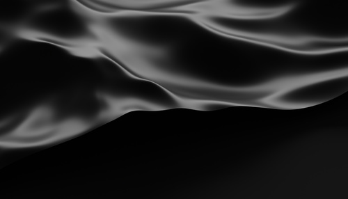 Abstract 3d rendering of smooth surface with ripples, cloth with