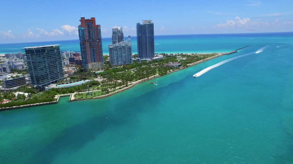 Miami beach condos flyover